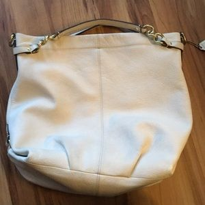 Off white/cream Coach hobo satchel